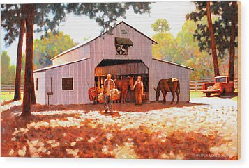 Treece Barn Wood Print by Kevin Lawrence Leveque