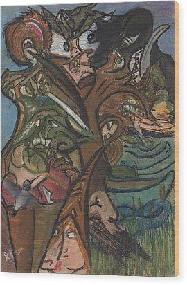 Treed In Skiatook Wood Print by Stu Hanson