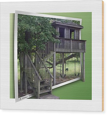 Treehouse Playground Wood Print by Brian Wallace