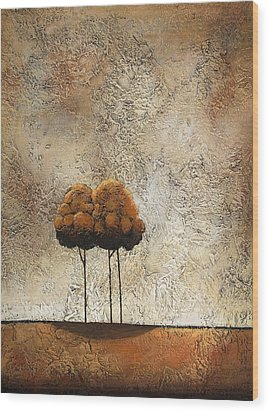 Trees 3 Wood Print by Jane Hunt