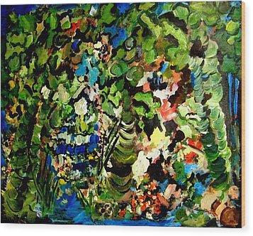Trees Wood Print by Ellen Seymour