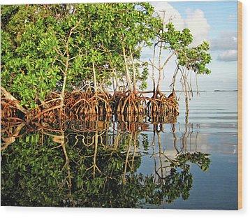 Trees In The Sea Wood Print