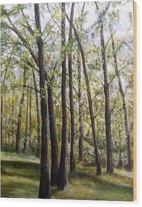 Trees Wood Print by Lorna Skeie
