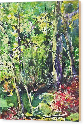 Trees Wood Print by Robin Miller-Bookhout