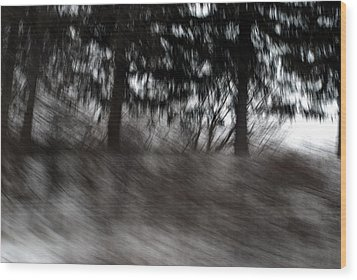 Treescape Wood Print by David Hickey