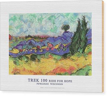 Trek 100 Poster Wood Print by Mykul Anjelo