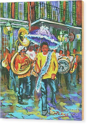 Treme Brass Band Wood Print by Dianne Parks
