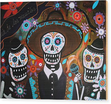 Tres Mariachis Wood Print