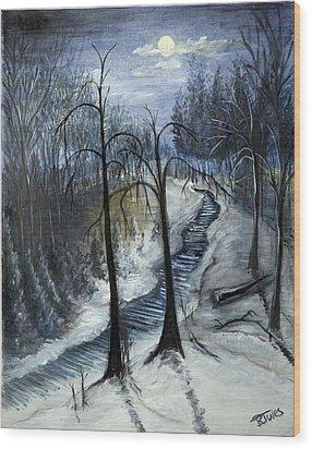 Tresa's Nite Wood Print