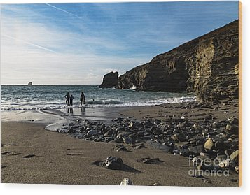 Wood Print featuring the photograph Trevellas Cove by Brian Roscorla