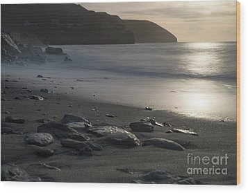 Wood Print featuring the photograph Photographs Of Cornwall Trevellas Cove Cornwall by Brian Roscorla