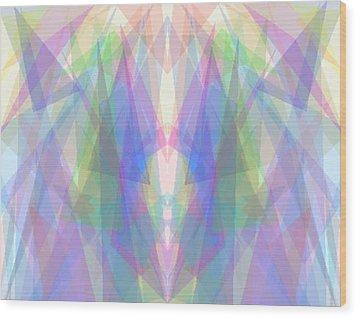 Tri-angles Wood Print