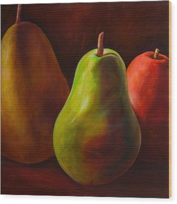 Tri Pear Wood Print