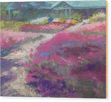 Trial Gardens In Fort Collins Wood Print by Grace Goodson