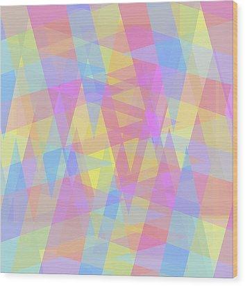 Triangle Jumble 2 Wood Print