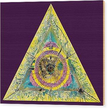 Triangle Triptych 2 Wood Print by Tom Hefko