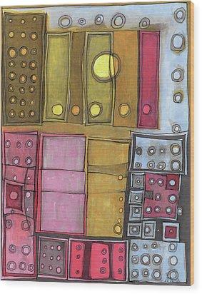 Geometric I Wood Print by Sandra Church