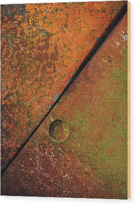 Triangular ...raw Steel Wood Print by Tom Druin