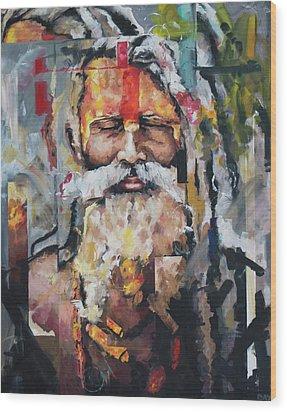 Tribal Chief Sadhu Wood Print