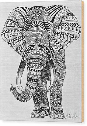 Tribal Elephant Wood Print