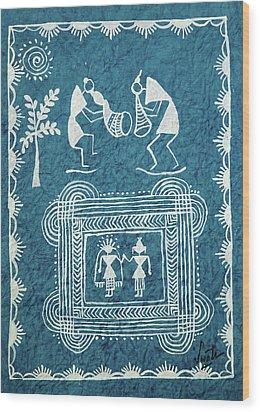 Tribal Gods Wood Print by Swati Sharma