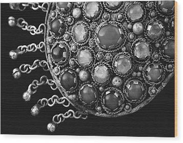 Tribal Necklace Wood Print by Lynne Guimond Sabean