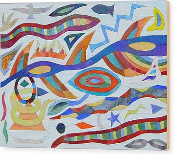 Tribal Visions Wood Print by Charles McDonell