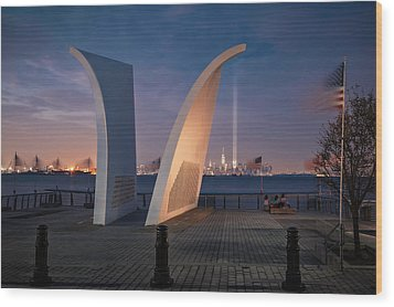 Tribute In Light Wood Print by Eduard Moldoveanu