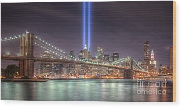 Tribute In Light IIi Wood Print
