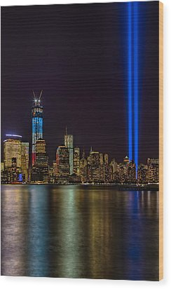 Tribute In Lights Memorial Wood Print by Susan Candelario