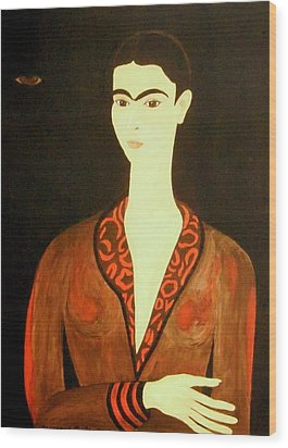 Wood Print featuring the painting Tribute To Frida by Stephanie Moore