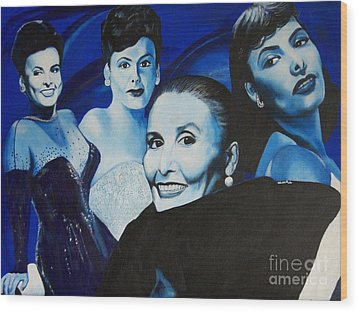 Tribute To Lena Horne Wood Print by Chelle Brantley