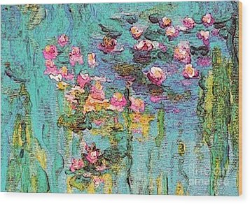 Tribute To Monet II Wood Print by Holly Martinson