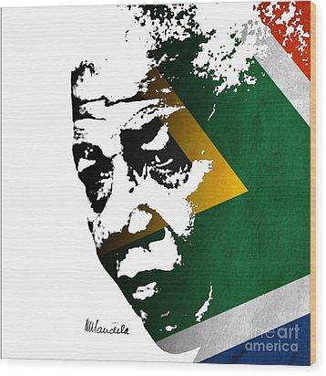 tribute to Nelson Mandela Wood Print