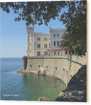 Trieste- Miramare Castle Wood Print by Italian Art