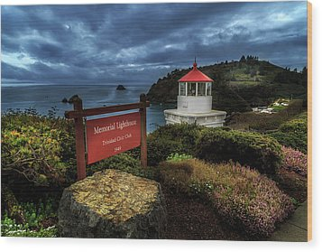 Wood Print featuring the photograph Trinidad Memorial Lighthouse by James Eddy