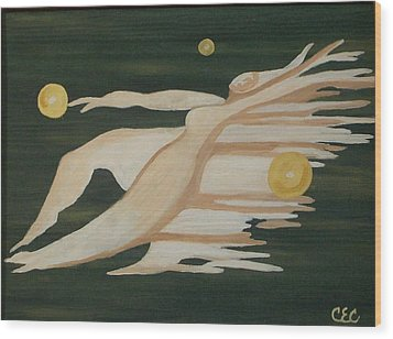 Trinity   A Womans Journey Wood Print by Carolyn Cable