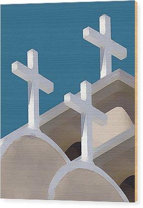 Trinity Wood Print by Carolyn Marcotte