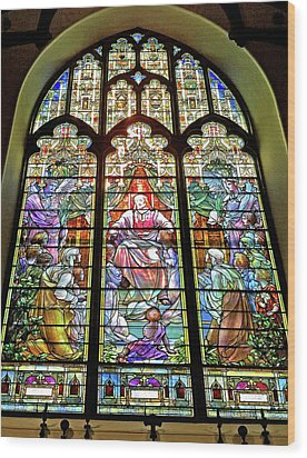Wood Print featuring the photograph Trinity Church Galveston by Wilhelm Hufnagl