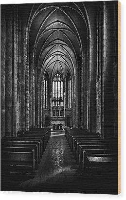 Trinity College Chapel Wood Print by Brian Carson