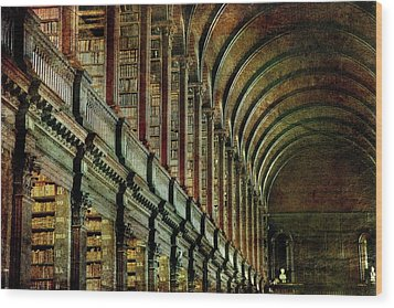 Trinity College Library Wood Print