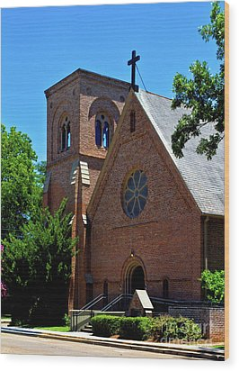 Wood Print featuring the photograph Trinity Episcopal Church by Ken Frischkorn