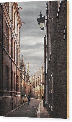 Wood Print featuring the photograph Trinity Lane Cambridge by Gill Billington