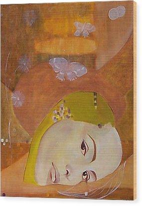 Trio Wood Print by Antoaneta Melnikova- Hillman