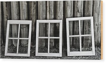 Wood Print featuring the photograph Trio by Brad Allen Fine Art