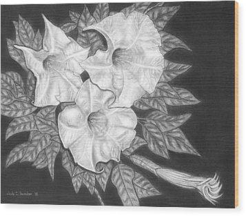 Trio Of Heavenly Blossoms Wood Print by Nicole I Hamilton
