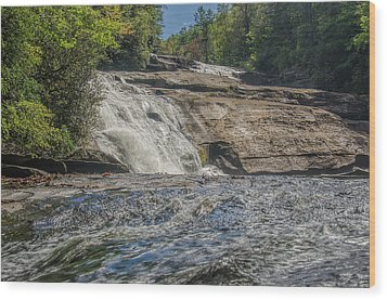 Wood Print featuring the photograph Triple Falls Second Tier by Steven Richardson