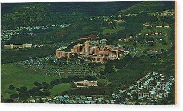 Tripler Army Medical Center Honolulu Wood Print