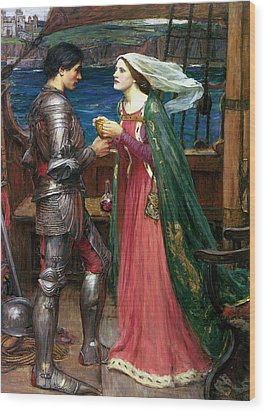 Tristan And Isolde With The Potion Wood Print