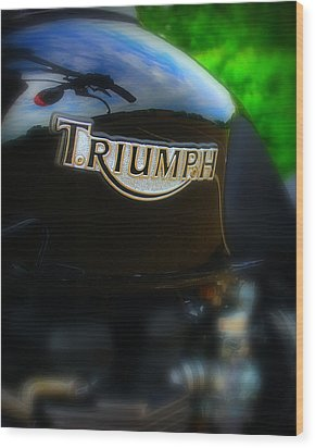 Triumph Wood Print by Perry Webster